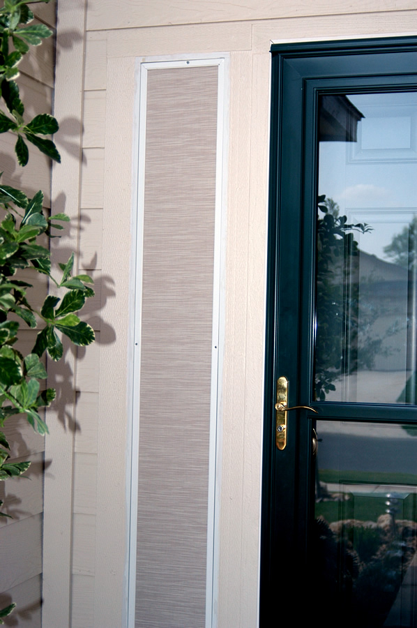 residential tinted glass installed in the door