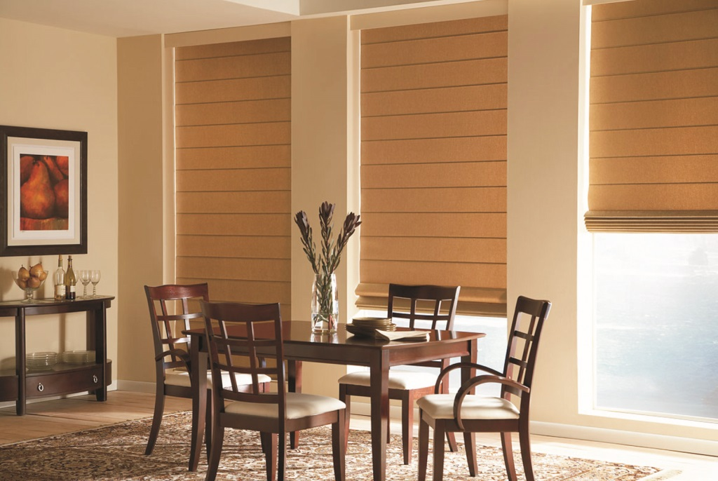Rio Rancho, NM – Installed Roman Shades for Mrs. Everson; Home Window Treatment