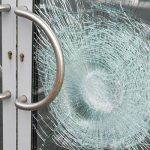broken glass door