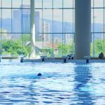 solar control window film glass in the swimming pool